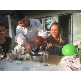 Chocolade live cooking >50 personen